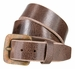 "A0041 Rusty Square Buckle and Genuine Full Grain Leather Belt 1 1/2"" Wide4"