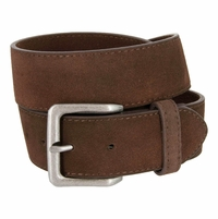 "A399 Suede Leather Casual Jean Belts 1-1/2"" wide - Brown"