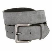 "A399 Suede Leather Casual Jean Belts 1-1/2"" wide - Gray"