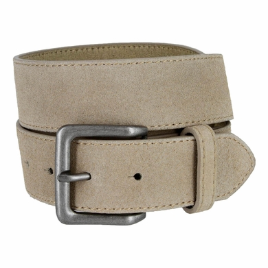 "A399 Suede Leather Casual Jean Belts 1-1/2"" wide - Tan"