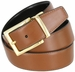 "A505-GP-160501 Men's Reversible Genuine Leather Dress Casual Belt 1-3/8"" (35mm) wide - Black/Tan4"