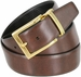 "A505-GP-160503 Men's Reversible Genuine Leather Dress Casual Belt 1-3/8"" (35mm) wide - Black/Brown4"