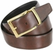 "A505-GP-160504 Men's Reversible Genuine Leather Dress Casual Belt 1-3/8"" (35mm) wide - Black/Brown4"