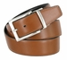 "A505-NP-160501 Men's Reversible Genuine Leather Dress Casual Belt 1-3/8"" (35mm) wide - Black/Tan4"