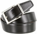 "A505-NP-160501 Men's Reversible Genuine Leather Dress Casual Belt 1-3/8"" (35mm) wide - Black/Tan1"