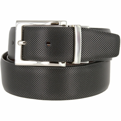 "A505-NP-160504 Men's Reversible Genuine Leather Dress Casual Belt 1-3/8"" (35mm) wide - Black/Brown"