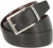 "A505-NP-160504 Men's Reversible Genuine Leather Dress Casual Belt 1-3/8"" (35mm) wide - Black/Brown1"