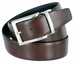 "A505-NP-160505 Men's Reversible Genuine Leather Dress Casual Belt 1-3/8"" (35mm) wide - Black/Brown4"