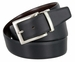 "A505-NP-160505 Men's Reversible Genuine Leather Dress Casual Belt 1-3/8"" (35mm) wide - Black/Brown1"