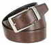 "A530-NP-160503 Men's Reversible Genuine Leather Dress Casual Belt 1-3/8"" (35mm) wide - Black/Brown4"