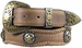 Abilene Men's Western Cowhide Leather Star Berry Concho Belts1