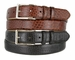 "Adam 6162 Silver Buckle Men's Italian Leather Dress Belt 1 1/8"" Wide"