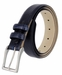 "Adam 6162 Men's Italian Leather Dress Navy Belt 1-1/8"" Wide - Lizard Navy3"
