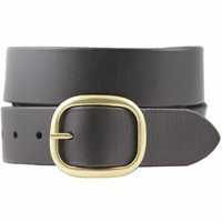 Alicia Women's Casual Leather Jean Belt - Black