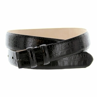 "Alligator Grain 1 1/8"" (30mm) wide Belt Strap - Black"