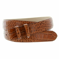 "Alligator Grain 1 1/8"" (30mm) wide Belt Strap - Tan"