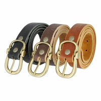 Artikon Hand Cut Genuine Full Grain Leather Belt Made In USA
