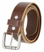 "Bill Adler 29040 Antique Silver Roller Buckle Beveled Edges Belt 1.5"" Wide (Brown)1"