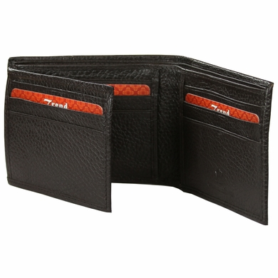 BC-05 Trend New York Bari Collection Genuine Leather Dress Wallet - Brown