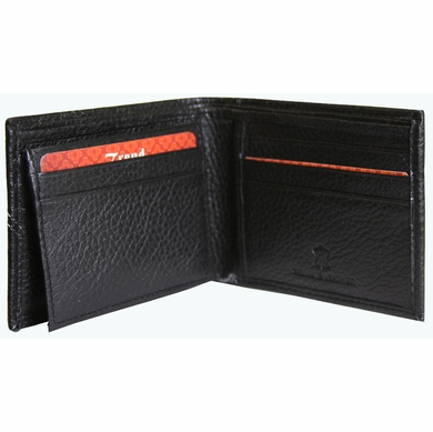 BC-48 Trend New York Bari Collection Genuine Leather Dress Wallet - Black