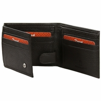 BC-57 Trend New York Bari Collection Genuine Leather Dress Wallet - Brown