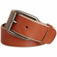 "Bill Adler 23805 1-1/2"" (38mm) Wide Genuine Leather Belt with Roller Buckle - Orange"