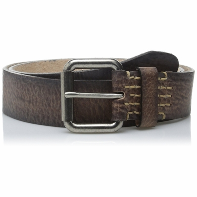 "Bill Adler 23963 1-1/2"" (38mm) Wide Distressed Leather Belt with Roller Buckle"