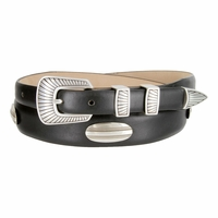 Bisby Italian Leather Concho Belt - Black