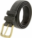 2777 Men's Black Crazy Horse Western Leather Dress Belt1
