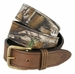 Bone Collector Camouflage Canvas Outdoor TV Huntsmen Leather Tab Casual Belt - Brown1