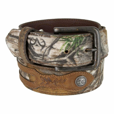Bone Collector Camouflage Canvas Outdoor TV Huntsmen Leather Tab Casual Belt