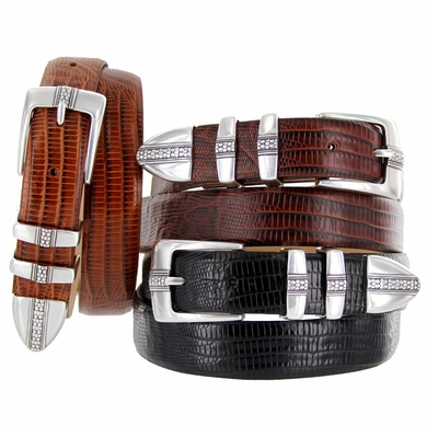 "Brandon Men's Italian Calfskin Leather Designer Dress Golf Belt 1-1/8""(30mm) Wide"