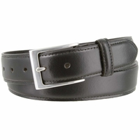 "Brian's Business Genuine Leather Belt with Silver Buckle   1-1/4"" wide"