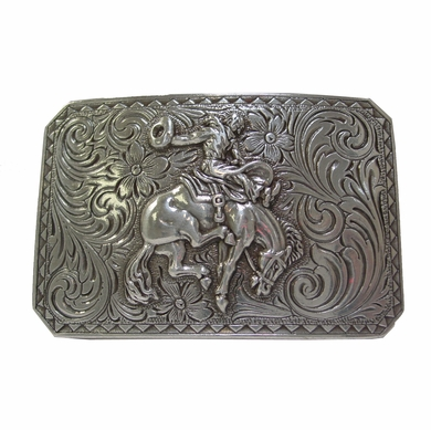 Bronco Rider sterling silver Western Belt Buckle HA-0150 LASRP