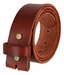 "BS040 Vintage Full Grain Leather Belt Strap 1 1/2"" Wide - Burgundy1"