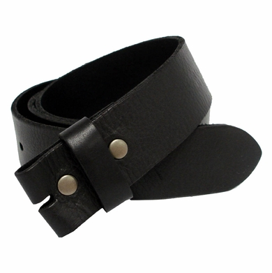 "BS041 Full Grain Leather Belt Strap 1-3/4"" Wide - Black"