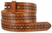 "BS042 Full Grain Tooled Leather Belt Strap 1 1/2"" wide"