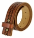 "BS042 Full Grain Tooled Leather Belt Strap 1 1/2"" wide3"