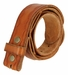 "BS058 Genuine Full Grain Leather Woven Tooled Belt Strap 1-1/2"" Wide - Tan2"