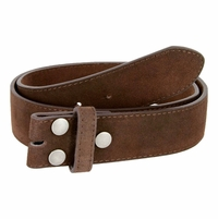 "BS066 Brown Suede Leather Belt Strap 1 1/2"" Wide"