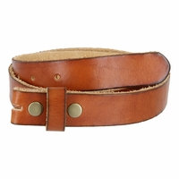 "BS100 Vintage Full Grain Leather Belt Strap 1-1/8"" Wide-Tan"