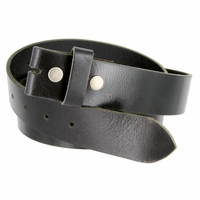 "BS103 Genuine Full Grain Vintage Leather Belt Strap 1-1/2"" Wide - Black"