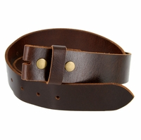 "BS103 Genuine Full Grain Vintage Leather Belt Strap 1-1/2"" Wide - Brown"