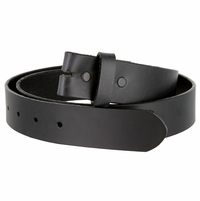 "Made in USA Belt BS105035 One Piece Full Genuine Leather Belt Strap 1-3/8"" (35mm) Wide-Black"