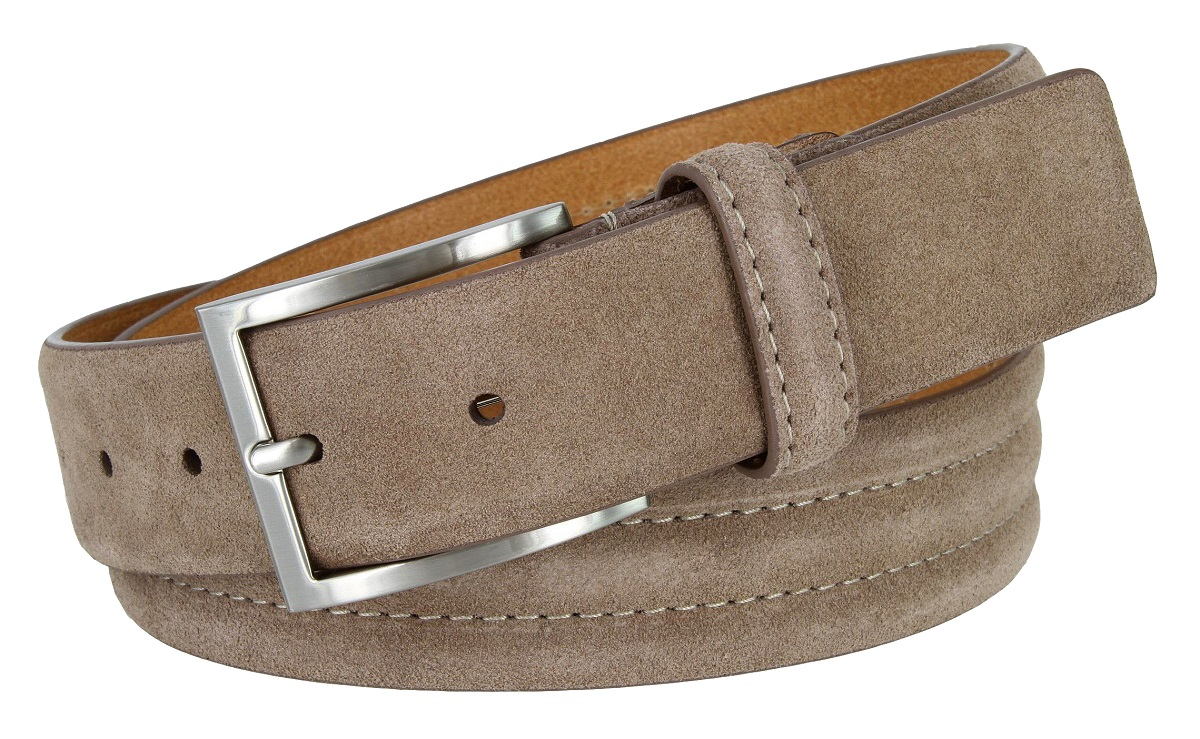 Brown Color 35mm Wide Simple Mens Genuine Leather Casual Dress Belt 1-3//8