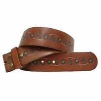 "BS112 Leather Belt Strap 1 3/4"" Wide"