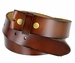 "BS121 Genuine Leather Belt Strap 1-1/2"" Wide - Brown1"