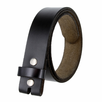 "BS121 Genuine Leather Belt Strap 1-1/2"" Wide - Black"