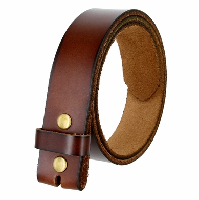 "BS121 Genuine Leather Belt Strap 1-1/2"" Wide - Brown"