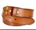 "BS121 Genuine Leather Belt Strap 1-1/2"" Wide - Tan1"